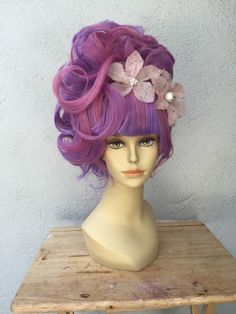 Pink and Purple Fun Costume Drag Queen Adult by littlepennylane
