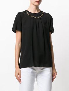 Michael Michael Kors 체인 넥 장식 티셔츠