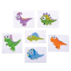 1.5-inch Puffy Dinosaur Stickers (Bulk Pack of 72 Stickers) at theBIGzoo.com, an animal-themed store established in August 2000.