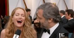 New party member! Tags: lol laughing academy awards red carpet judd apatow leslie mann oscar awards 2017