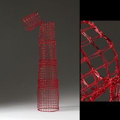 """ONE""  Nancy Koenigsberg  Coated copper wire  29"" x 10 1/2"" x 10 1/2"""