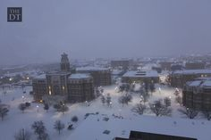 Lubbock and more snow! What a beautiful campus picture!