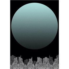 #blue #moon #big #city #art #drawing #simple #dark #detailed