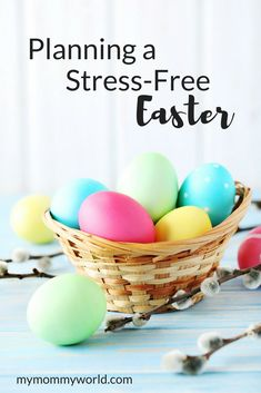 Make Easter stress-free this year with these Easter planning ideas. With ideas for easy Easter food, decorations and activities, you can plan an Easter get-together this year that is both fun and low on stress.