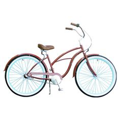 Womens 26 three-speed beach cruiser bicycle with front and back fenders and Nexus shifter.   Product: Beach cruiser