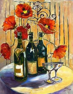 French Champagne | French Wine - by Diane Millsap from Still Life