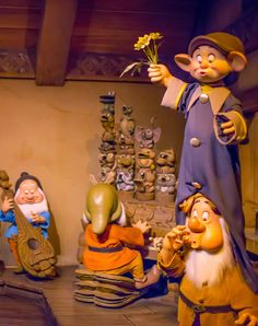 Daily Disneyland: The Seven Dwarfs making music at Disneyland's Snow White's scary adventure ride Disneyland Rides, Disneyland Today, Disneyland California Adventure, Disney Rides, Vintage Disneyland, Disneyland Resort, Disneyland Photos, Disney Boys, Old Disney