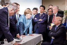 Η φωτογραφία που δείχνει τι ακριβώς συνέβη στην G7: Μέρκελ και όλοι οι υπόλοιποι, κατά του Τραμπ [εικόνα] | iefimerida.gr