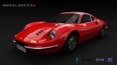 Ferrari Dino 3D Max - Vray - Photoshop