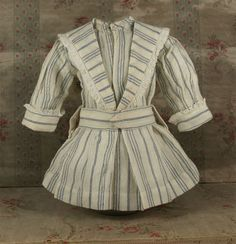 Antique Factory Made French Fine Cashmere Wool Dress for JUMEAU, BRU or other French Bebe Doll