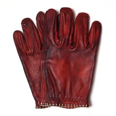 MotoStuka Bloody Shanks Glove - Oxblood | Motorcycle Gloves | FREE UK delivery - The Cafe Racer