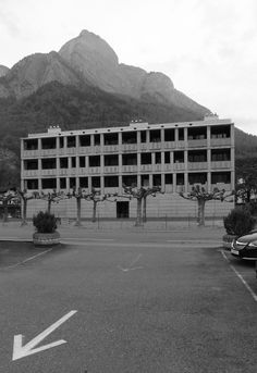 """Mehrfamilienhaus Sargans, Peter Märkli, 1986. """"My intention here was to counteract the suburban sprawl by making something with a public character."""""""