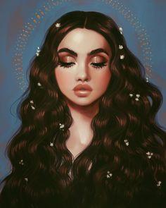 Art by Isabelle Staub Digital Art Girl, Digital Portrait, Portrait Art, Portraits, Cartoon Kunst, Cartoon Art, Art And Illustration, Illustrations, Pretty Art