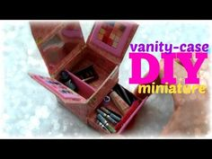 Tutorial : how to make a miniature make-up vanity-case for dolls - YouTube