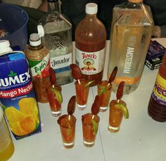 Adult Drinks Mexican Snacks, Mexican Drinks, Mexican Food Recipes, Snack Recipes, Party Drinks, Cocktail Drinks, Fun Drinks, Yummy Drinks, Cocktails
