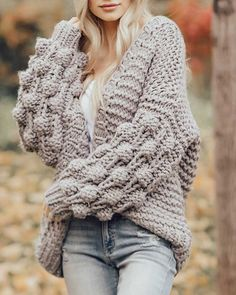The Stevie Chunky Knit Cardigan – McKie Rae Chunky Sweater Outfit, Chunky Knit Cardigan, Cardigan Sweaters For Women, Cute Sweaters, Winter Sweaters, Sweater Outfits, Cardigans For Women, Sweater Cardigan, Fall Outfits