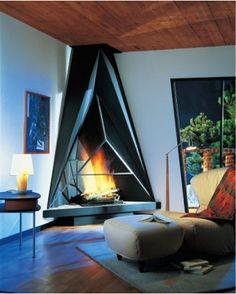 フードタイプ暖炉「キャミリア 984 コーナーモデル」
