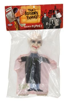 Vintage 'THE ADDAMS FAMILY - UNCLE FESTER' BAGGED HAND PUPPET.