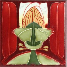 ANTIQUE c.1900 VILLEROY & BOCH GERMAN ART NOUVEAU TILE #3. This item is sold, to visit my website to see what's in stock click here: http://www.richardhoppe.co.uk or for help or information email us here: info@richardhoppe.co.uk