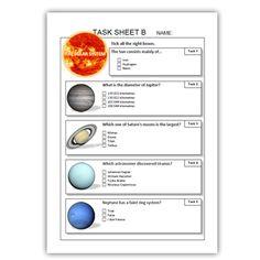 SOLAR SYSTEM TASK SHEETS ( THE SUN, PLANETS, ASTRONOMERS ) - TeachersPayTeachers.com