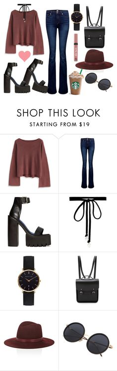 """""""Life is beautiful but you don't have a clue."""" by selenophile98 ❤ liked on Polyvore featuring Chicwish, Paige Denim, Jeffrey Campbell, Joomi Lim, Abbott Lyon, The Cambridge Satchel Company, Victoria's Secret and Janessa Leone"""