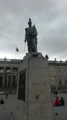 Bolívar, Plaza de Armas de Bogotá