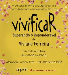 Click: Lançamento do livro Vivificar, de Viviane Ferreira