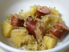 Slow Cooker Oktoberfest Kielbasa - one pot meal!  www.getcrocked.com