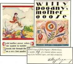 WILLY POGANY'S MOTHER GOOSE limited edition. Lushly illustrated in Art Deco style.