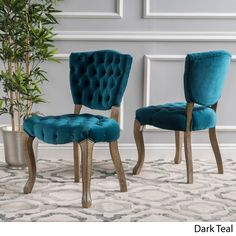 Christopher Knight Home Bates Tufted Dining Chairs (Set of 2)