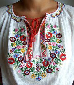 Vintage Embroidered Girl's White Blouse / Ukrainian sorochka / Shirt - Vyshyvanka size S M Small Medium / Made in Ukraine / Hand Embroidered Available at: https://www.etsy.com/shop/VintagePolkaShop?ref=hdr