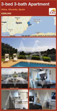 3-bed 3-bath Apartment in Altea, Alicante, Spain ►€299,000 #PropertyForSaleInSpain