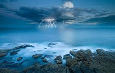 Long exposure captured this wonderful storm and lightning strike off the heads of Bondi. (Timothy Poulton)