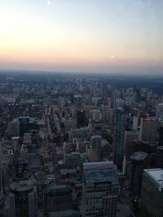 Toronto sunset from the CN tower