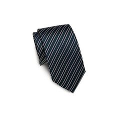 Yves Saint Laurent Striped Silk Tie (3.395 RUB) ❤ liked on Polyvore featuring men's fashion, men's accessories, men's neckwear, ties, green, mens striped ties, mens ties, mens silk ties and mens green tie