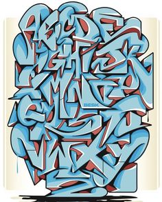 Graffiti Letters Styles, Graffiti Lettering Alphabet, Love Graffiti, Tattoo Lettering Fonts, Graffiti Font, Graffiti Artwork, Graffiti Drawing, Cool Lettering, Mural Art