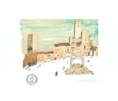 Holiday 2014, Urban Sketching, Watercolours, Art And Architecture, Sketchbooks, Biscotti, Graphite, Tuscany, Watercolor Art