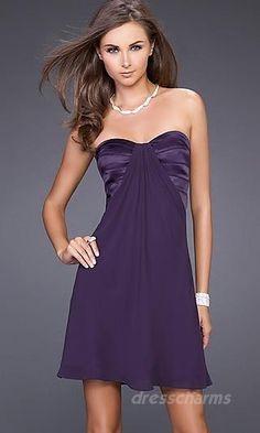 A-Line Chiffon Sweetheart Short Dress Charm86780