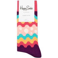 HAPPY SOCKS Soda pop socks (16 AUD) ❤ liked on Polyvore featuring intimates, hosiery, socks, multi, patterned socks, colorful cotton socks, multi color socks, print socks and multicolor socks