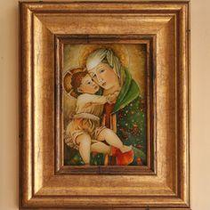 Madonna z dziciątkiem.  techn.malowane na szkle Danuta Rożnowska-Borys