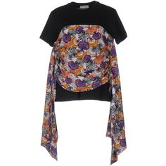 Emilio Pucci T-shirt (15.190 RUB) ❤ liked on Polyvore featuring tops, t-shirts, black, pocket tees, longsleeve t shirts, long sleeve t shirts, long sleeve jersey t shirt and long sleeve tops