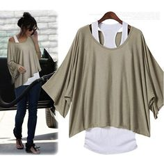 Cowgirl Style Top Scoop Neck Oversized Dolman Sleeve Western T-shirt Tee Shirt with FREE TANK TOP
