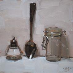 """Salt, Spoon, Jar - SOLD"" - Original Fine Art for Sale - © Carol Marine"