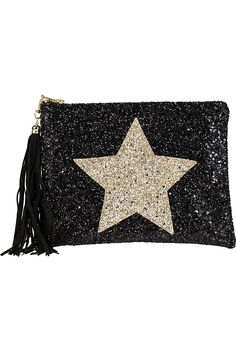 LISA BEA - Glitter-star large pouch   Selfridges.com