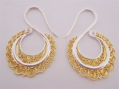Silver/Gold Filigree Brass Weights (10 gauge and larger)