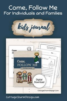 Come, Follow Me for Individuals and Families. Love this journal idea for kids. Would be perfect for Primary Classes too! Sunday Activities, Activity Days, Lds Primary, Primary Lessons, Study Journal, My Journal, Viria, Class Journals, Come Unto Me
