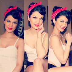 Pin Up Makeup ; wish I could pull this off