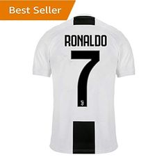 Amazon.com  SALLARM  7 Ronaldo Juventus (Juve) Home 2018-2019 Soccer Jersey  Mens White Black  Clothing 59584f9f4fe36