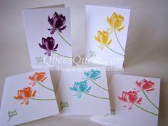Qbee's Quest: Lotus Blossom Note Cards Tutorial