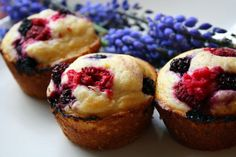 Crowley Party: Berry Lemon Muffins.